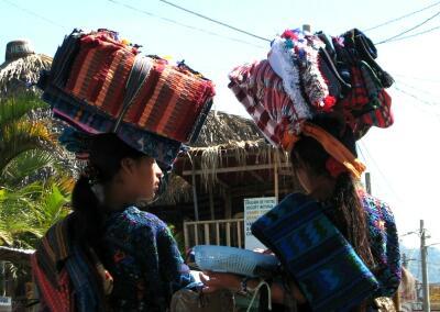 Panajachel street vendors, Lago Atitlan