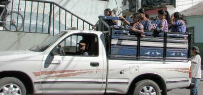 Public transportation pickup truck, Santiago Atitlan
