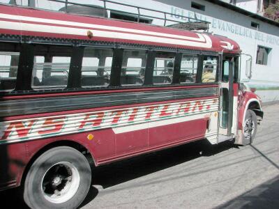 Chicken bus, Santiago Atitlan