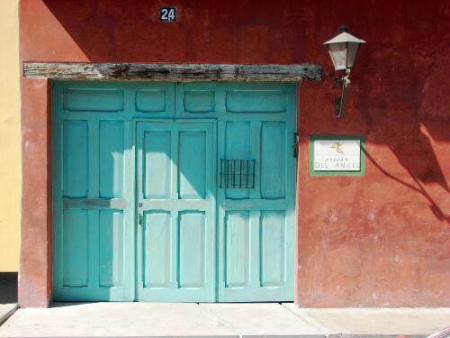 Posada Del Angel Carriage Door, Pedestrian Door, And Judas Hole