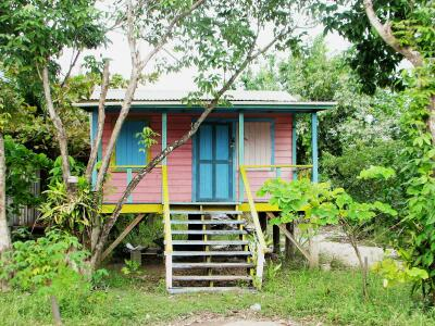 Placencia Belize stilt house