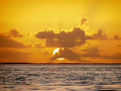 Sunrise, Drowned Cays, Belize
