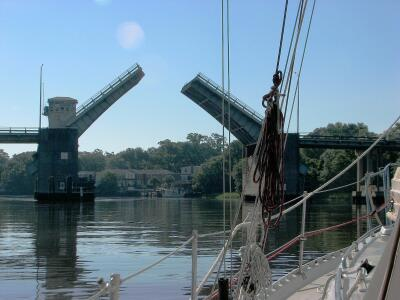 Wappoo Cut Bridge, opening