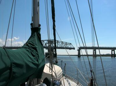 Sullivan's Island Swing Bridge, opening