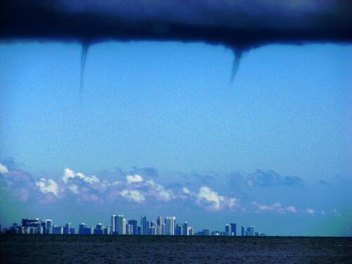 Waterspouts over Miami
