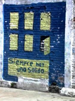 "Schoolyard mural ""Siempre hay una salida"" (There is always a way out) Concordia, Mexico"