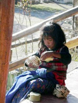 Raramuri (Tarahumara) Indian girl, Creel, Mexico