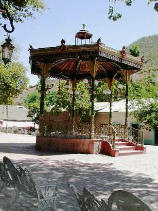 Victorian-style bandstand, Batopilas, Mexico