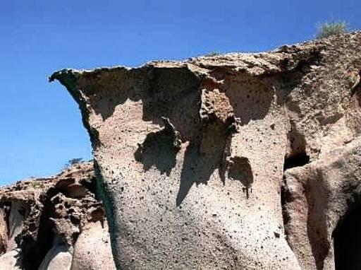 Sculpted sandstone, Isla Partida, Mexico