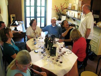 Wine tasting, Castello di Querceto