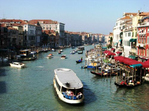 Venice, Grand Canal, from Ponte di Rialto