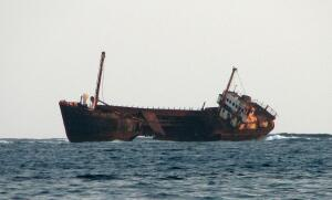 Shipwreck, Coco Banderos Keys, Kuna Yala (San Blas) Panama