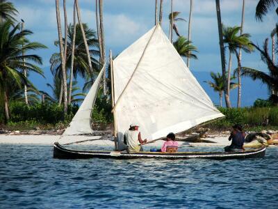 Kuna Yala ulu under sail, legacy of Ithaka/Bernon's, San Blas Panama