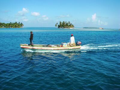 Veggie boat, San Blas Islands, Panama