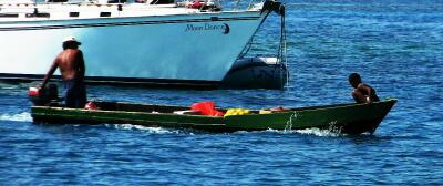 Serapio's veggie boat, San Blas Islands, Panama