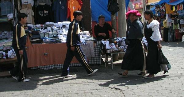 Otavalo street scene, Ecuador