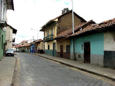 City street, Cuenca, Ecuador