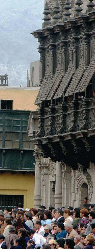 """Jealousy balconies, """"Archbiship's Palace"""", Lima, Peru"""