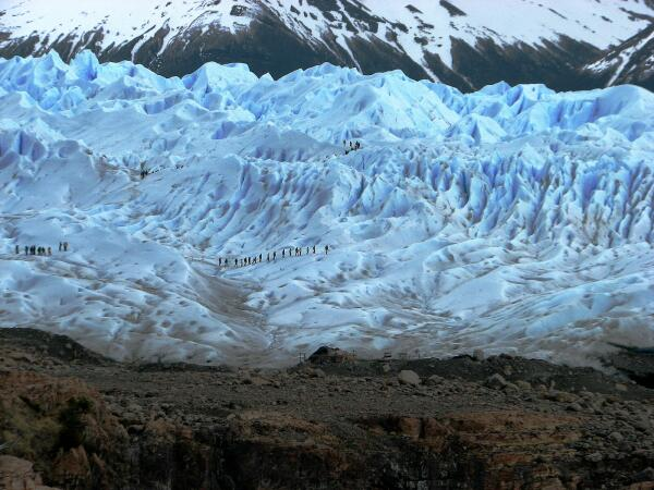Perito Merino Glacier, Argentina, trekking groups on glacier